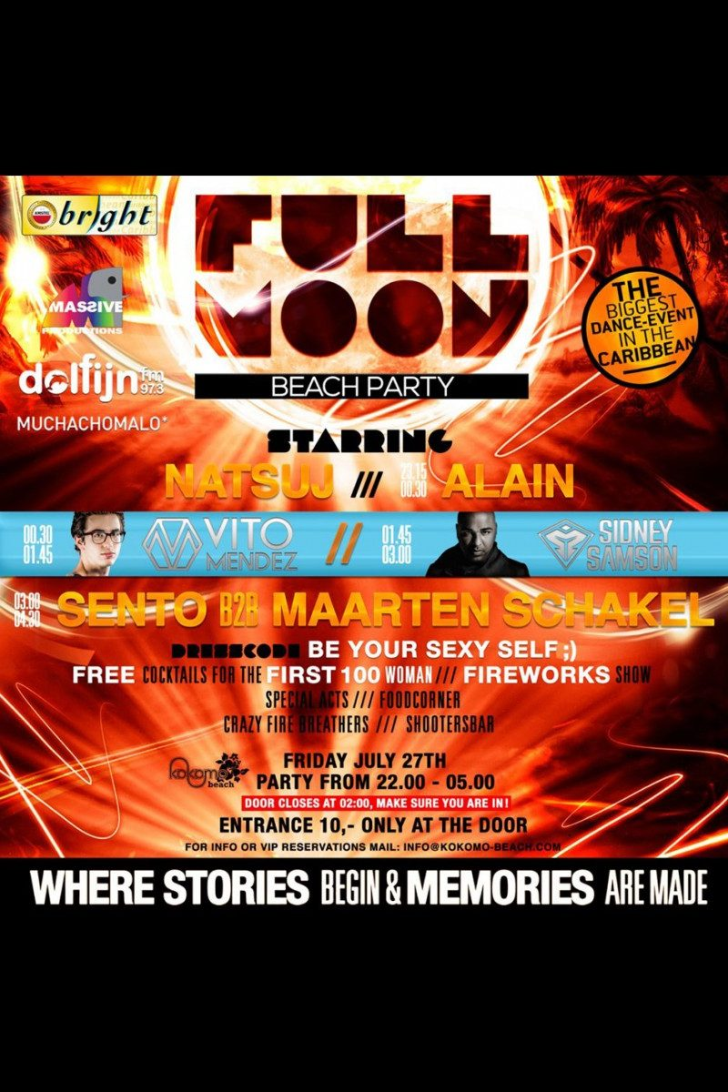 Kokomo Beach Curacao Presents: Full Moon Party